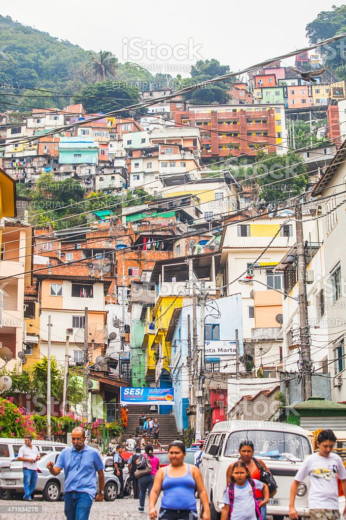 Favela streets. royalty-free stock photo