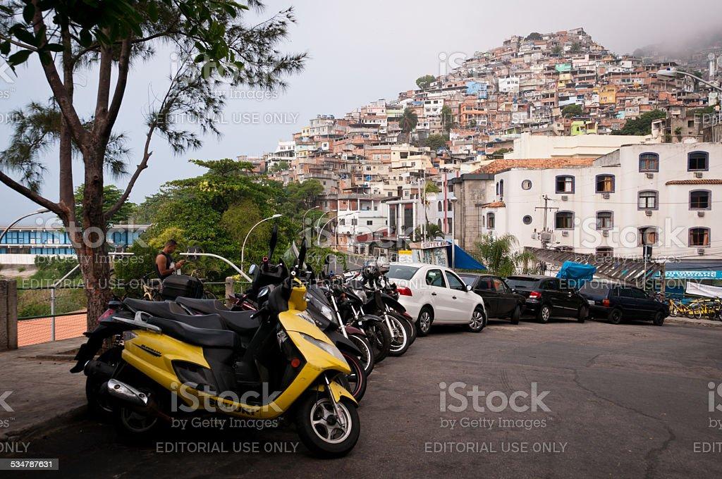 Favela Vidigal in Rio de Janeiro stock photo