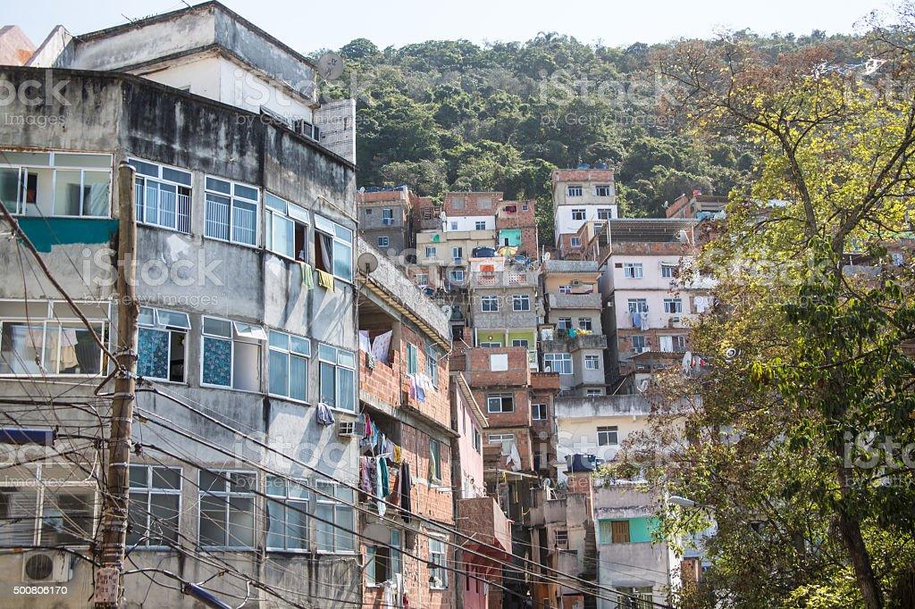 Favelas of Rio de Janeiro Brazil stock photo