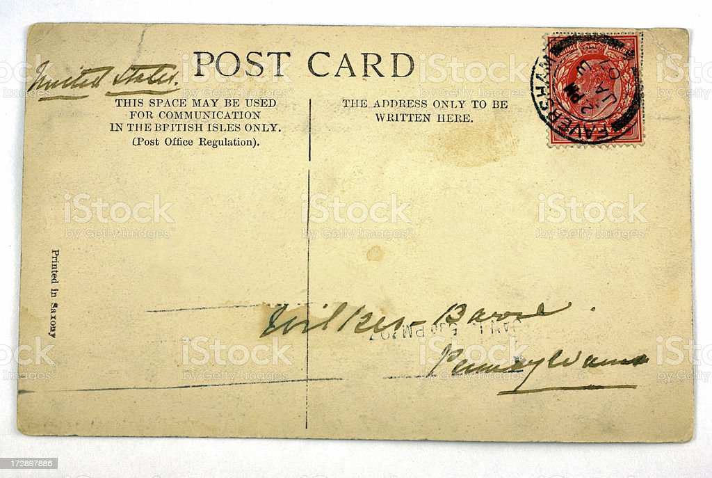 Faversham Vintage Postcard 1907 stock photo