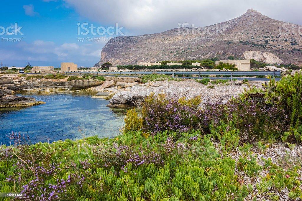 Favignana, Aegadian Islands, Sicily, Italy royalty-free stock photo