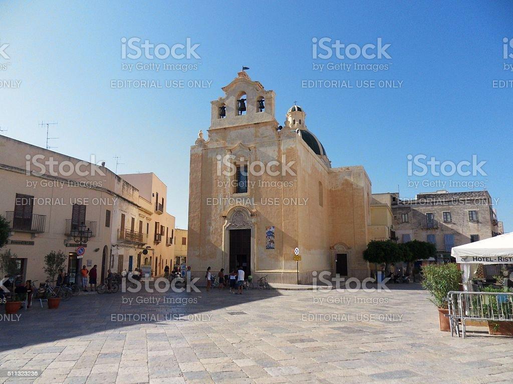 Favignana - chiesa madre stock photo