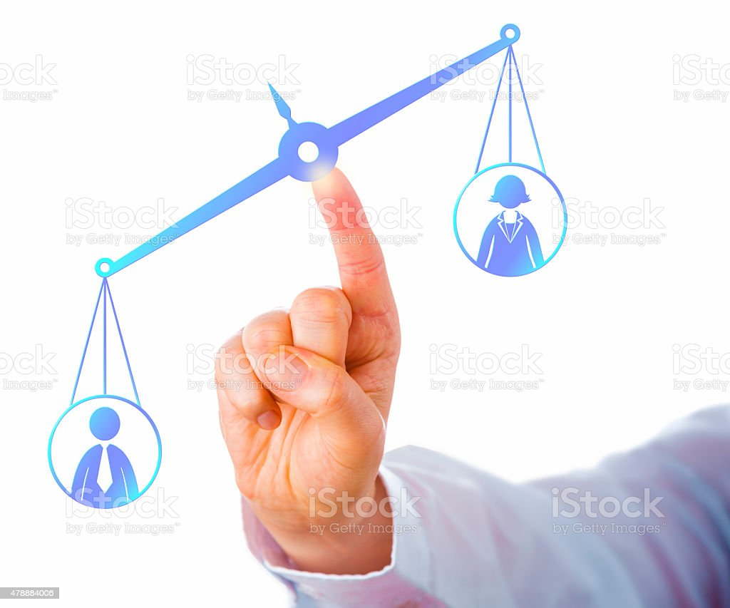 Favoring A Male Worker Over A Female Employee stock photo