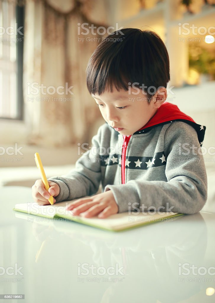Favorite book can be really absorbing stock photo