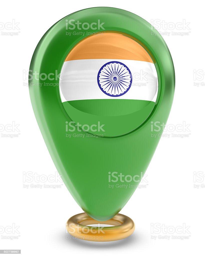 Favorite Places - India Flag stock photo