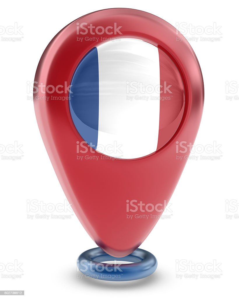 Favorite Places - France Flag stock photo