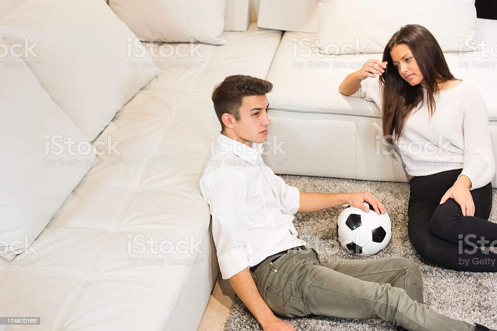Favorite soccer team lost the came royalty-free stock photo