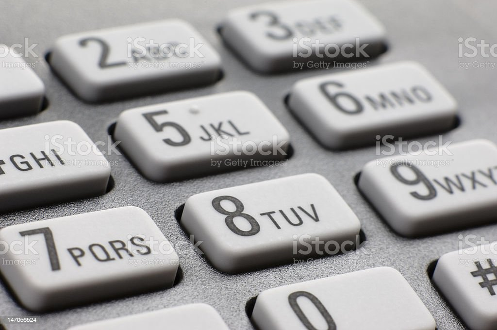 Fax dial pad stock photo