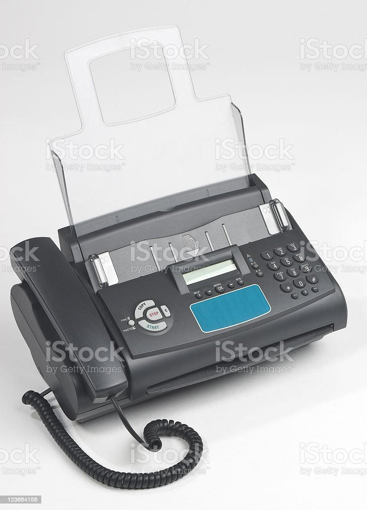 fax machine royalty-free stock photo