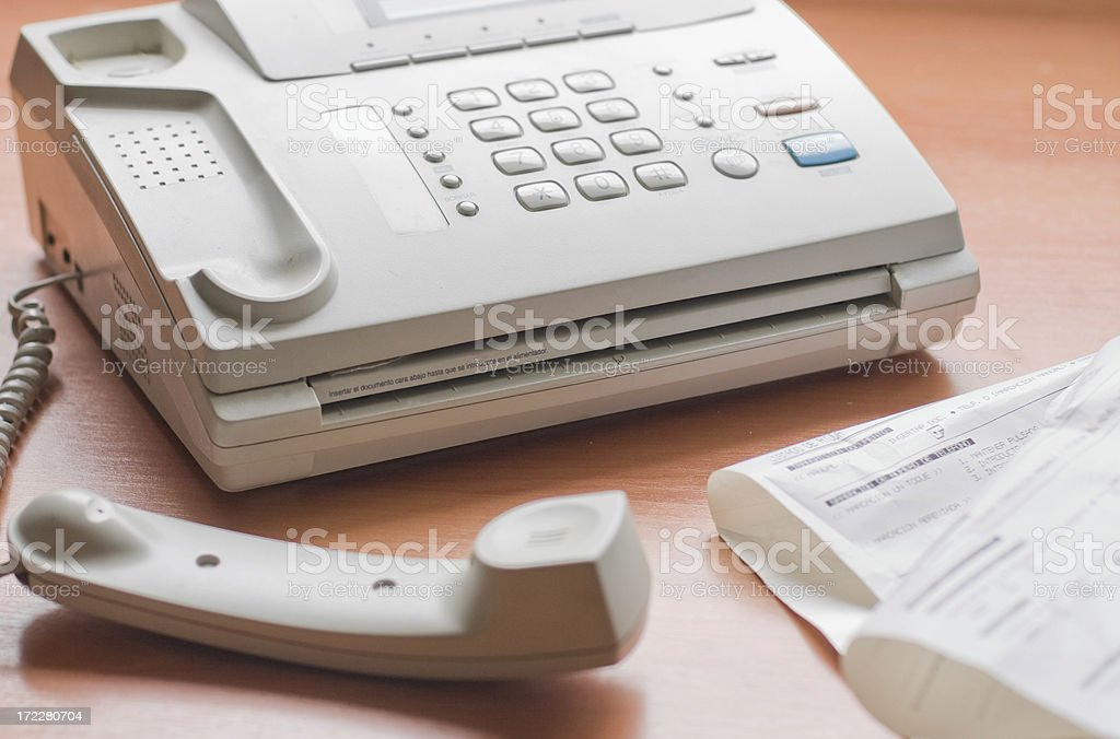 fax off the hook royalty-free stock photo