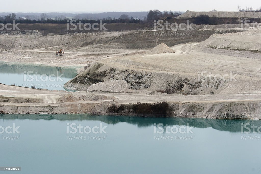 Faxe Limestone Quarry in Denmark royalty-free stock photo