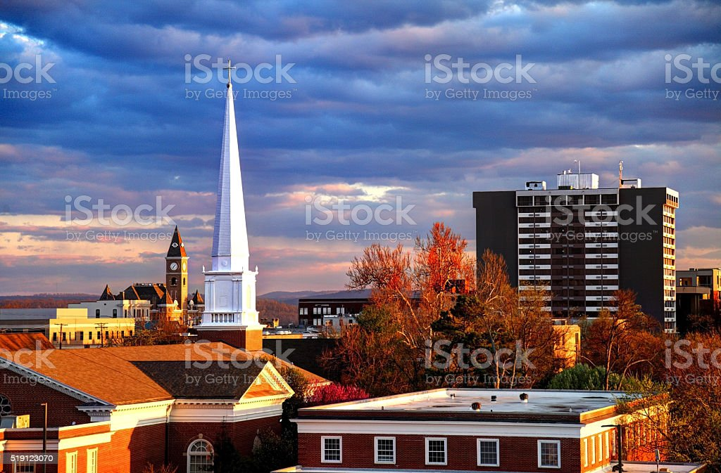 Fayetteville, Arkansas stock photo