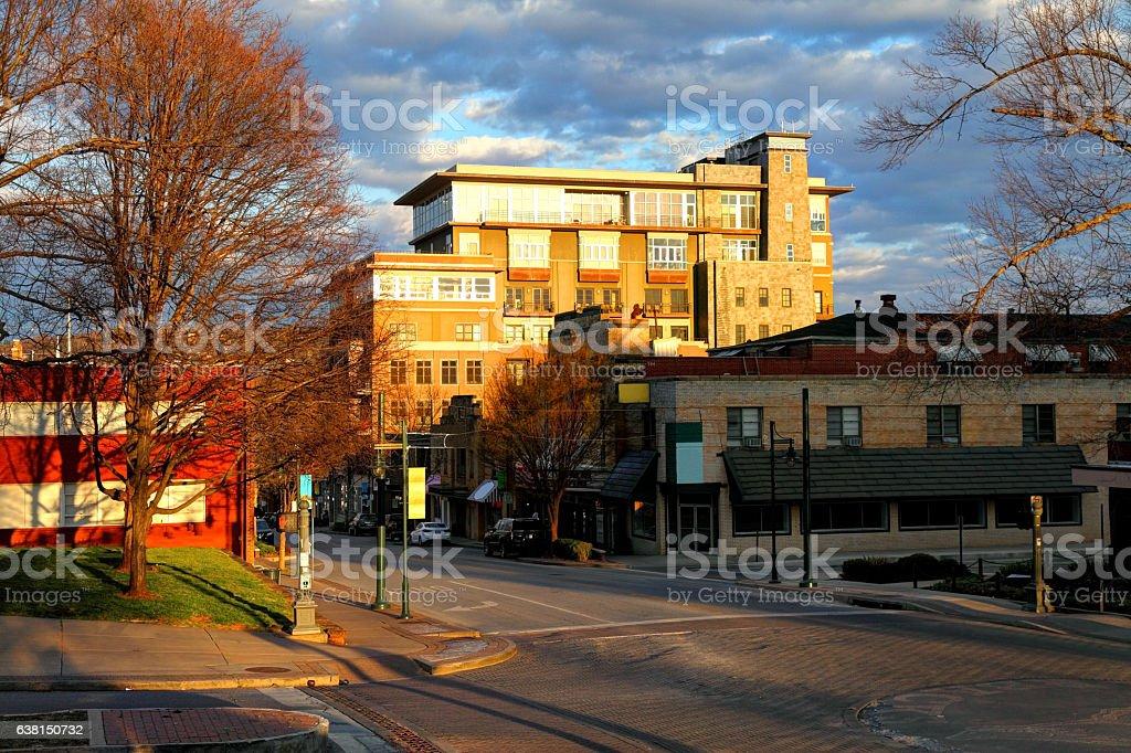 Fayetteville Arkansas stock photo