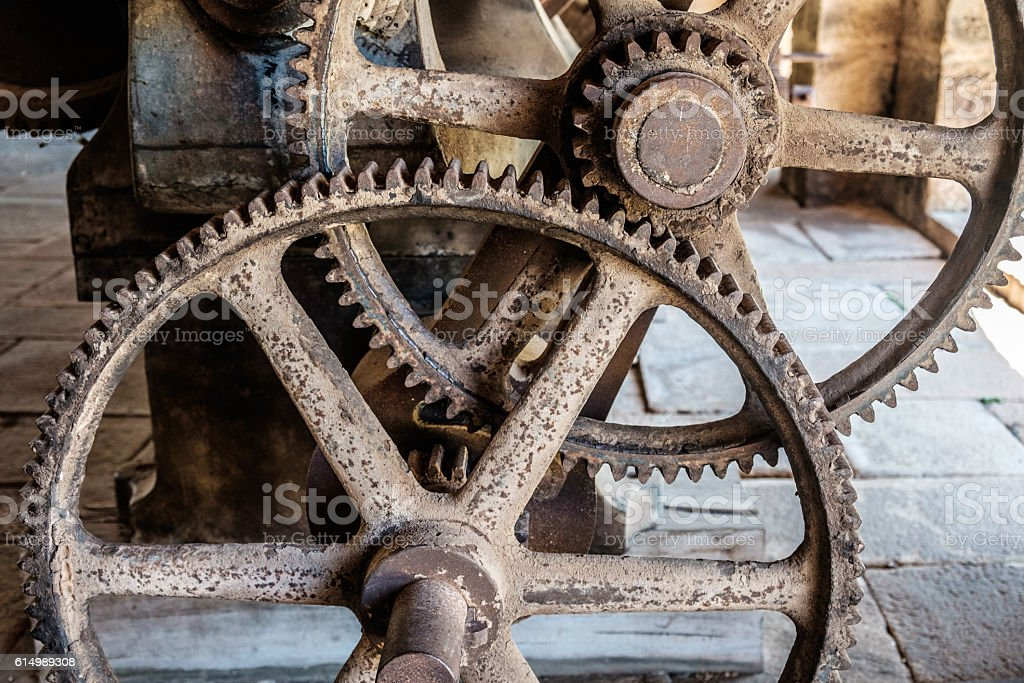 Fazenda Ipanema - old rusty machines stock photo