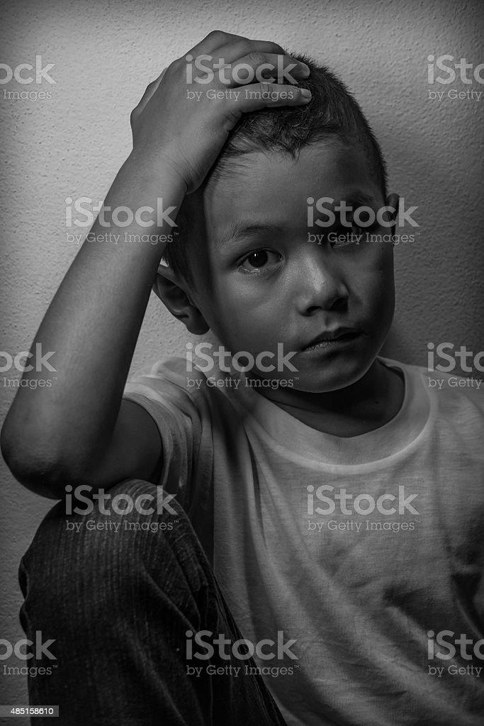 Fear and dispair stock photo