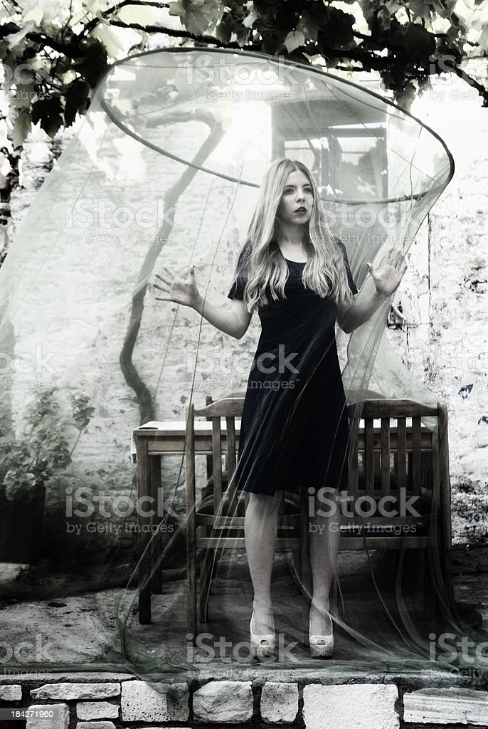 Fear and woman stock photo
