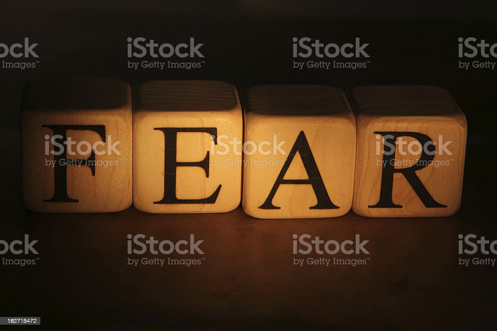 Fear Building Blocks royalty-free stock photo