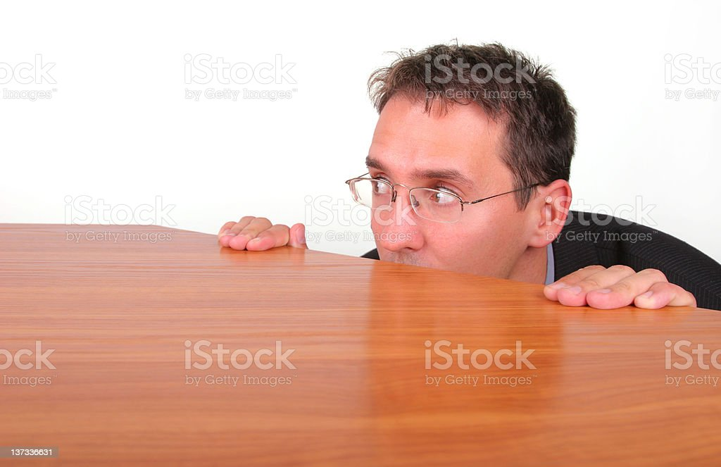Fear from responsibility royalty-free stock photo