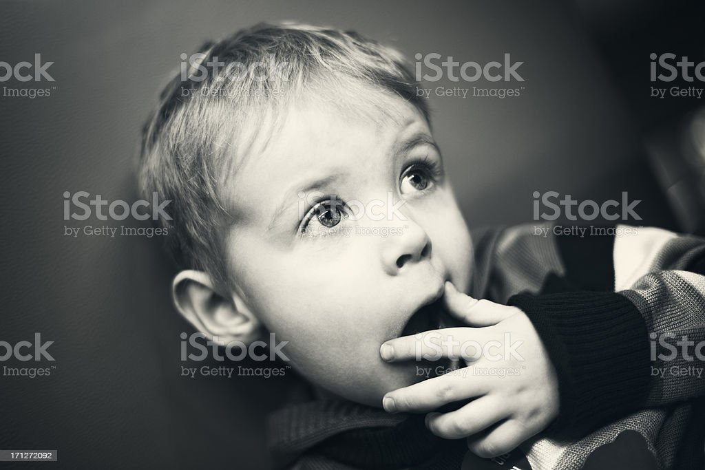 Fear has big eyes royalty-free stock photo