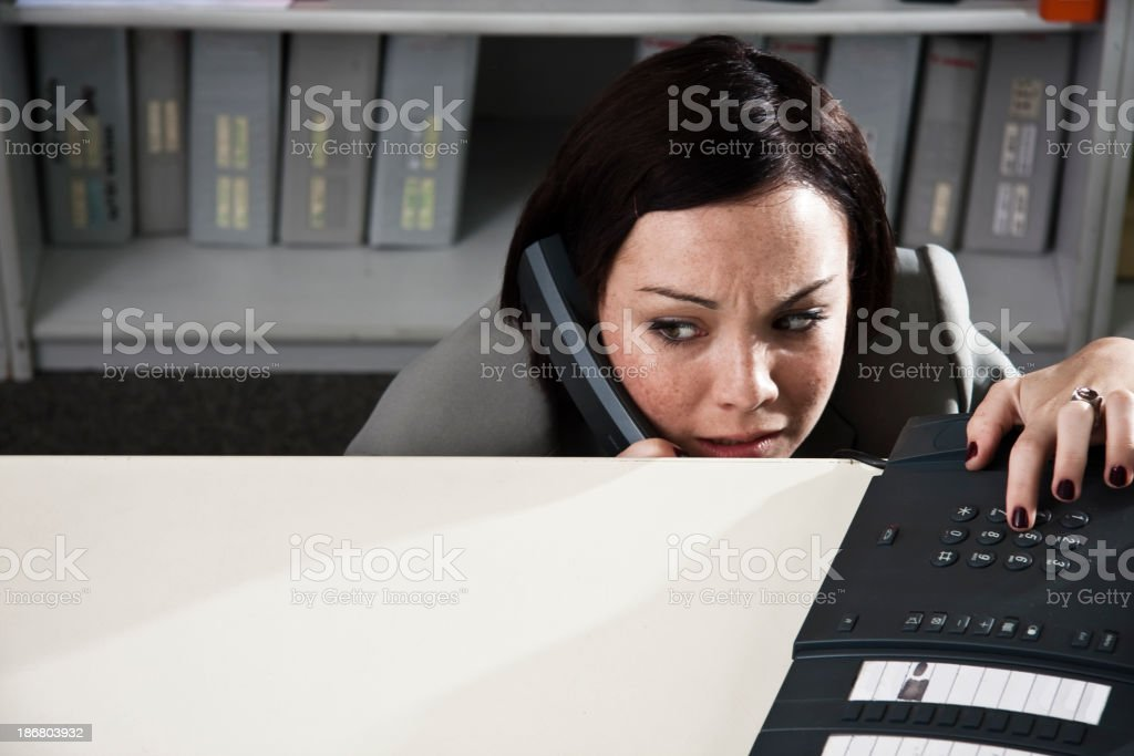 Fear in the Office royalty-free stock photo