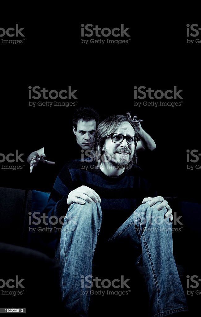 Fear is not on TV stock photo