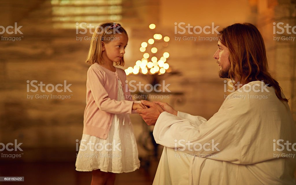 Fear not, for I am with you stock photo