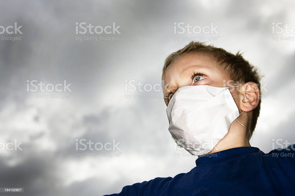 Fear of epidemic stock photo