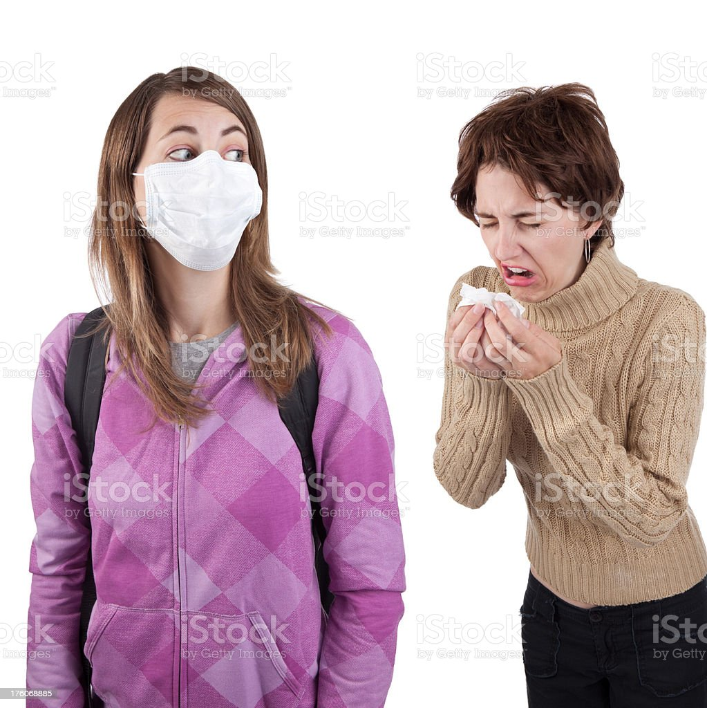 Fear Of Flu royalty-free stock photo
