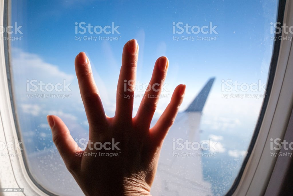 fear of flying stock photo
