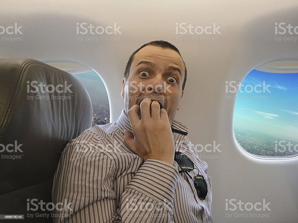 Fear of flying - Pteromerhanophobia stock photo