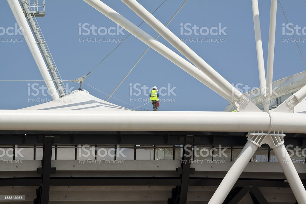 Fear of Heights royalty-free stock photo