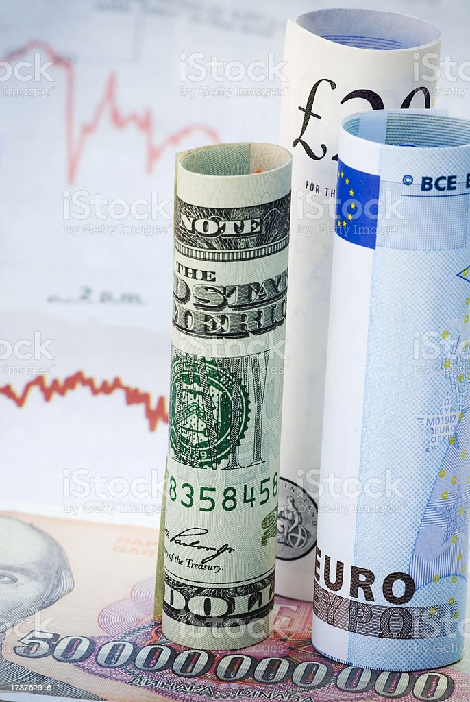 Fear of inflation! - IV stock photo