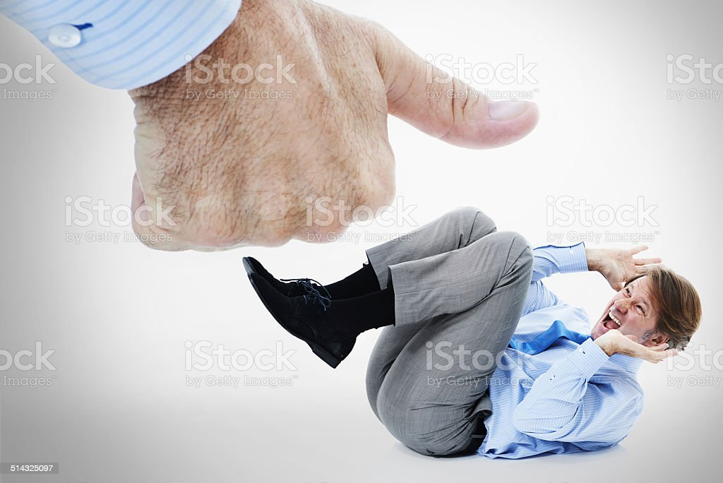 Fear of success stock photo