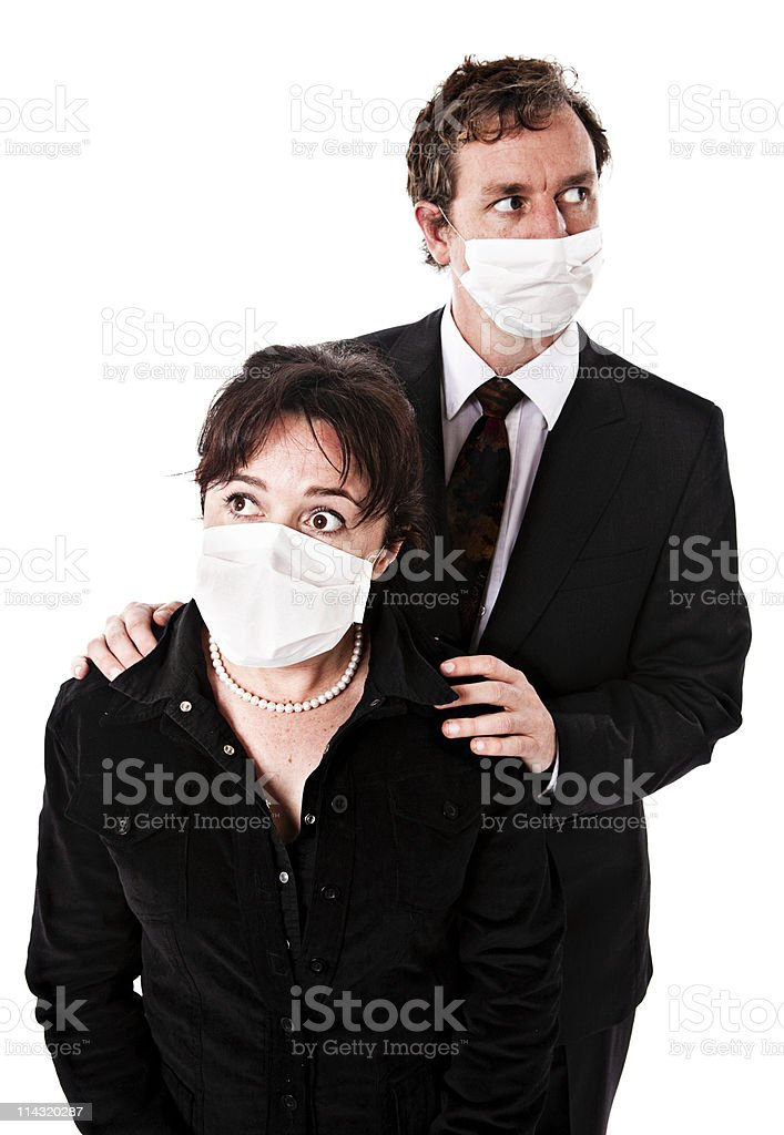 Fear of  the spread of deadly viruses royalty-free stock photo