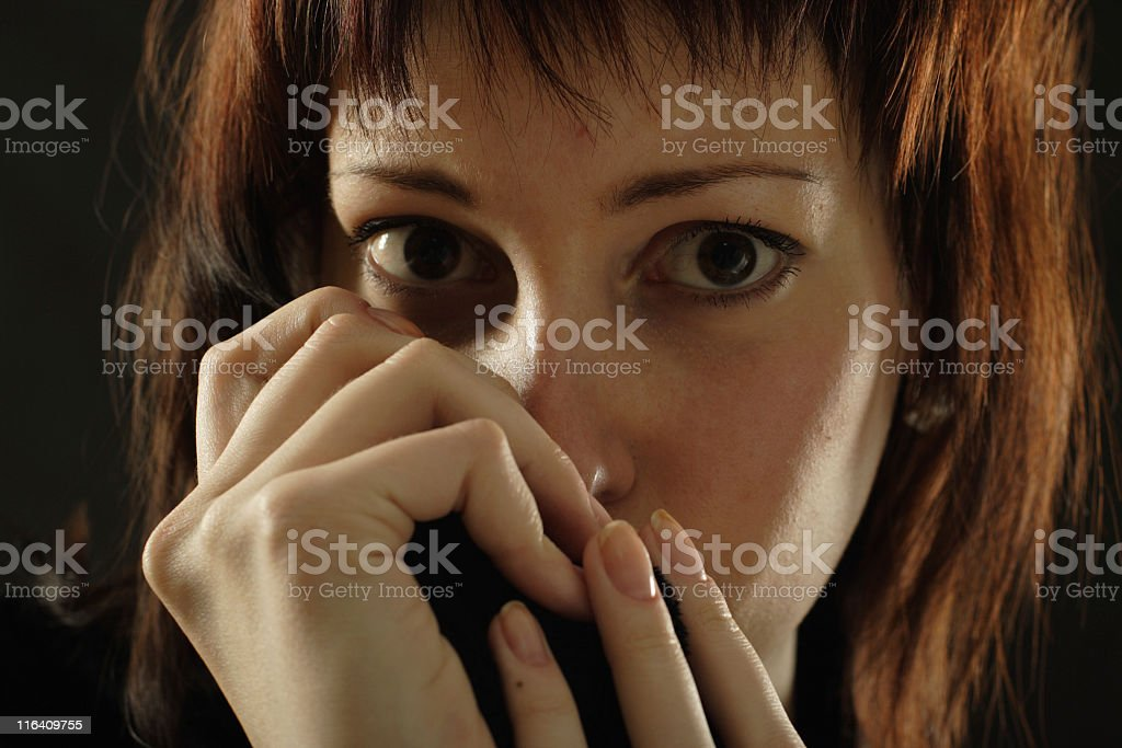 fear royalty-free stock photo