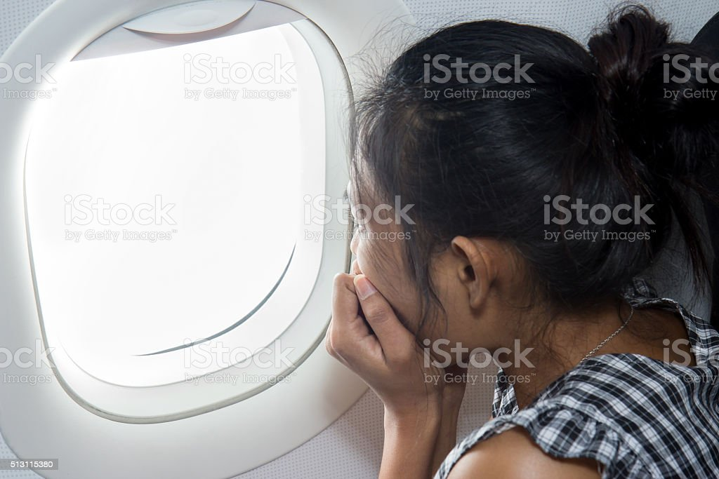 fear the plane stock photo