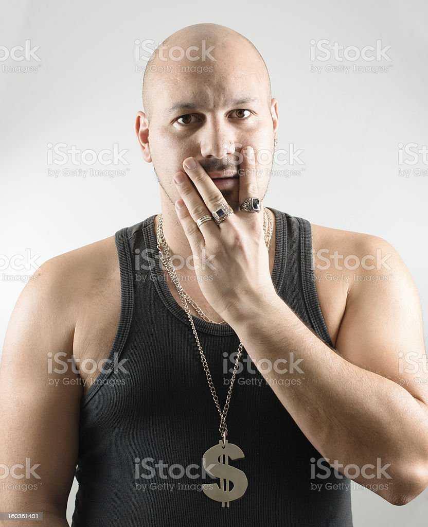 Feared man who lost everything royalty-free stock photo