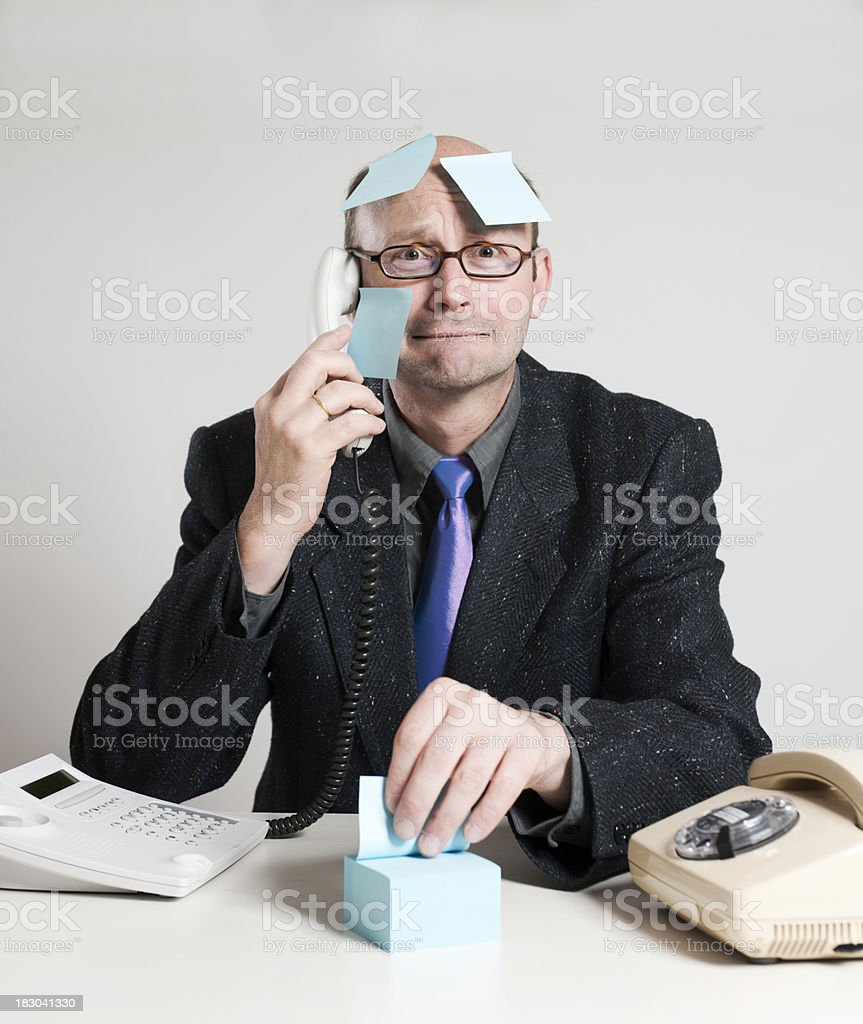 Fearful businessman royalty-free stock photo