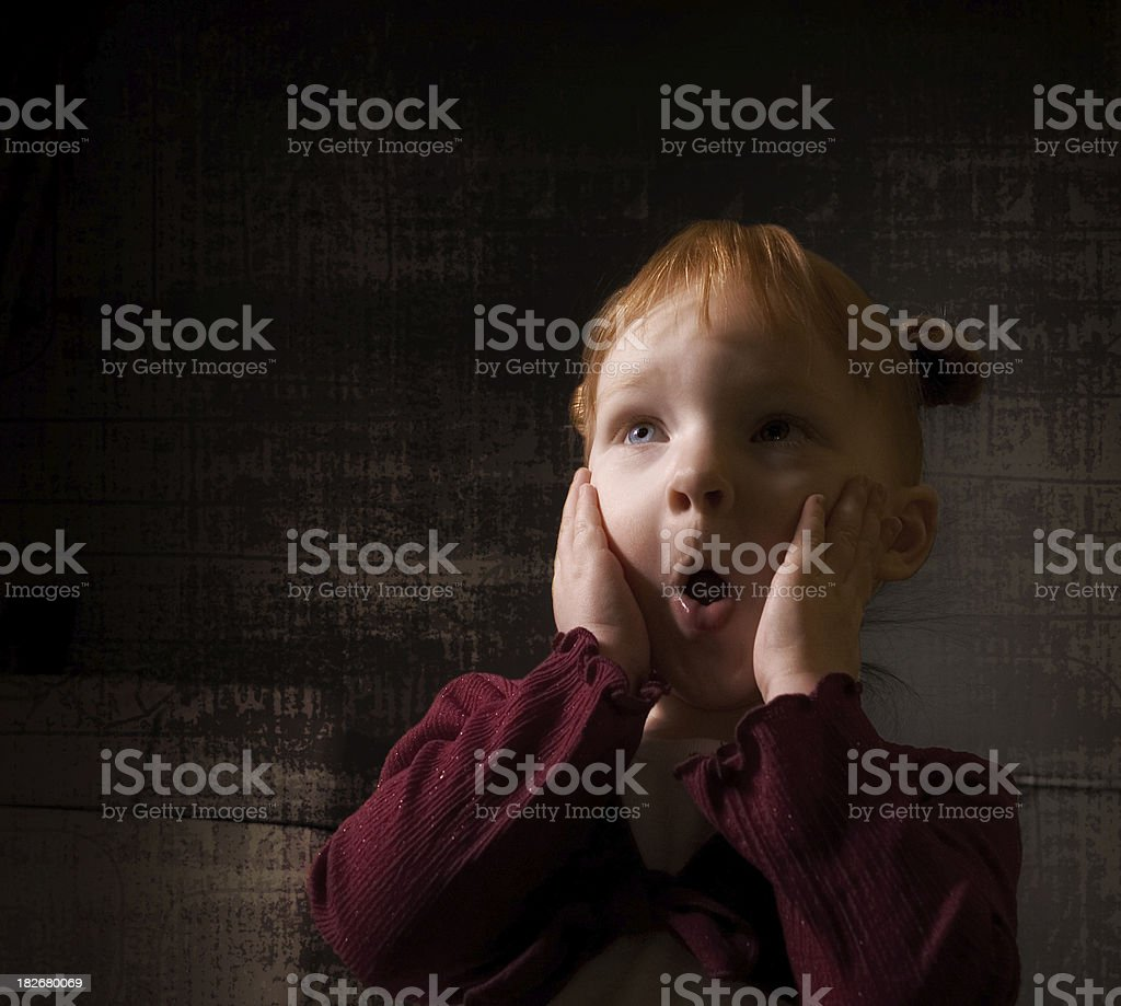 Fearful Child stock photo