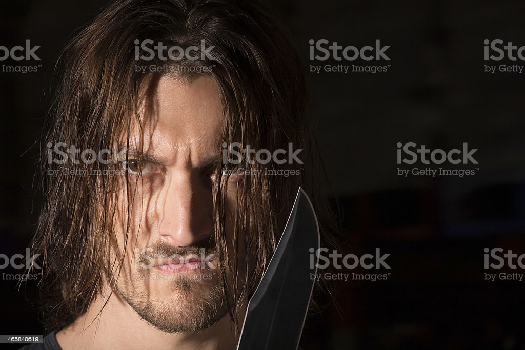 Fearful face royalty-free stock photo