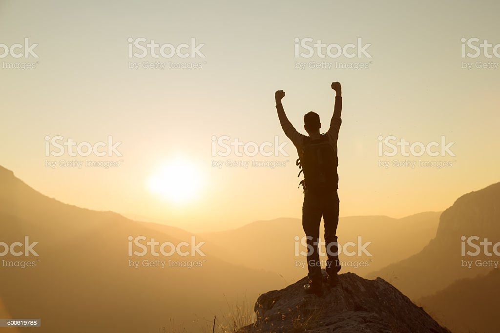 Fearlessness In The Great Outdoors stock photo