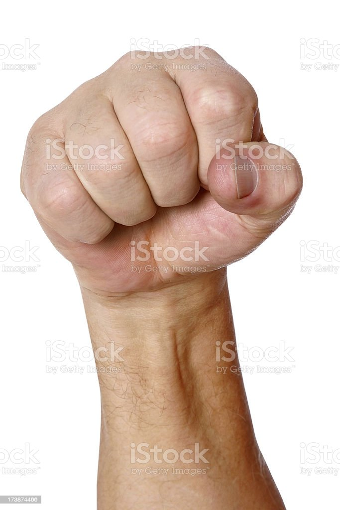 Fearsome Fist royalty-free stock photo