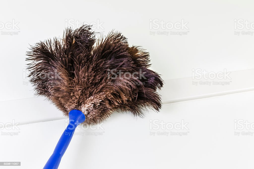 Feather duster at ceiling royalty-free stock photo