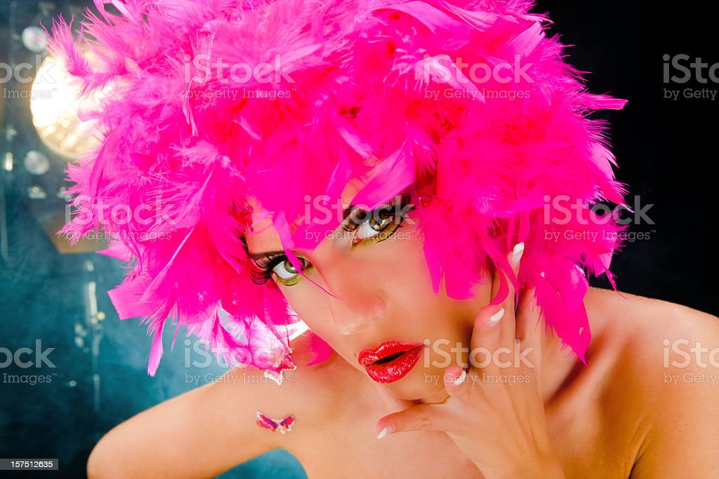 Feather girl royalty-free stock photo