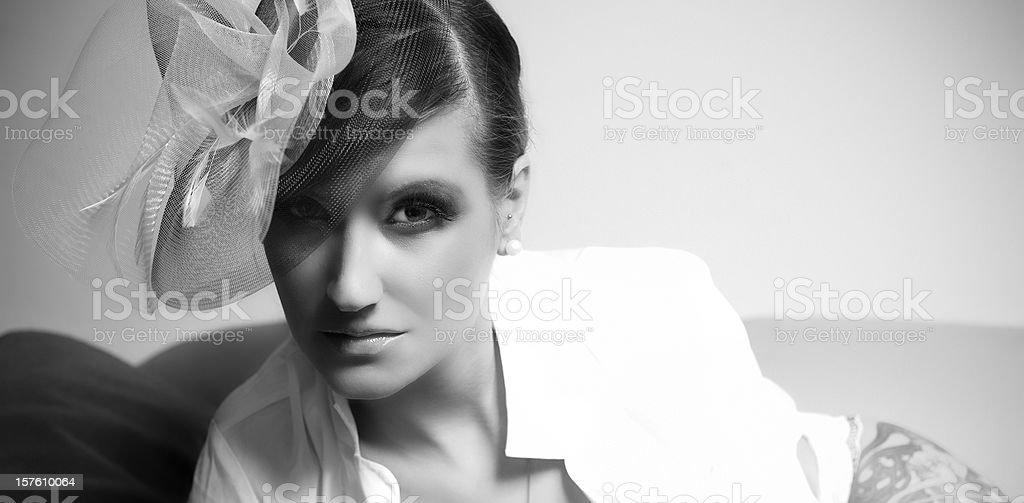 Feather hat royalty-free stock photo