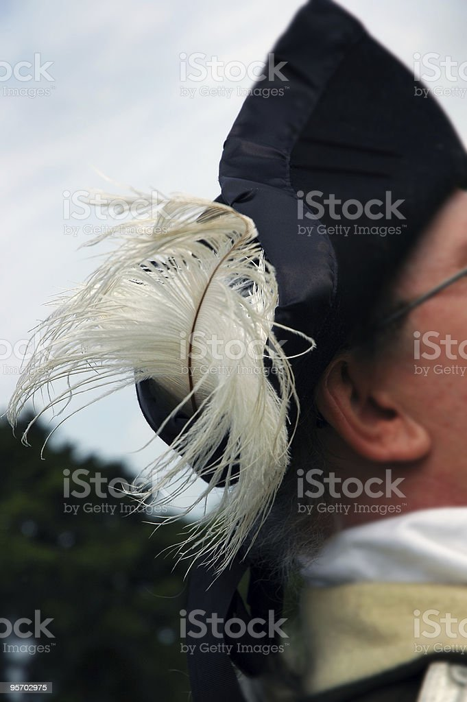 Feather in his Cap royalty-free stock photo
