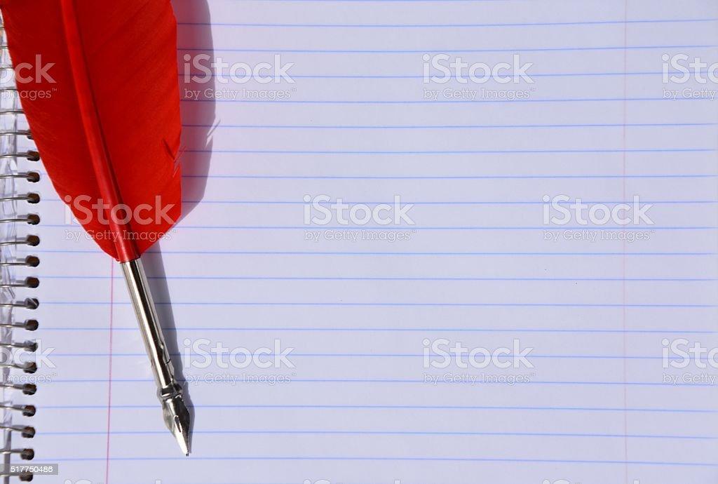 feather pen stock photo