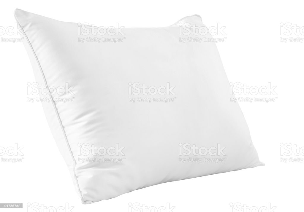 Feather pillow. Clipping path. royalty-free stock photo