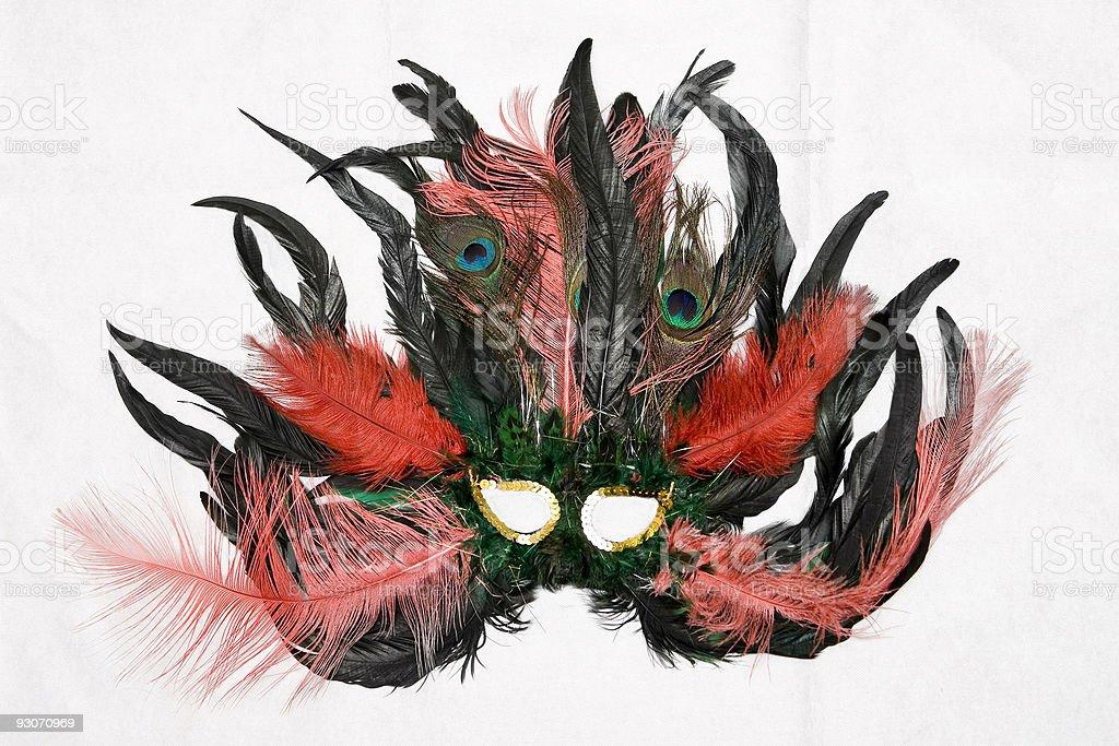 Feathered mask royalty-free stock photo