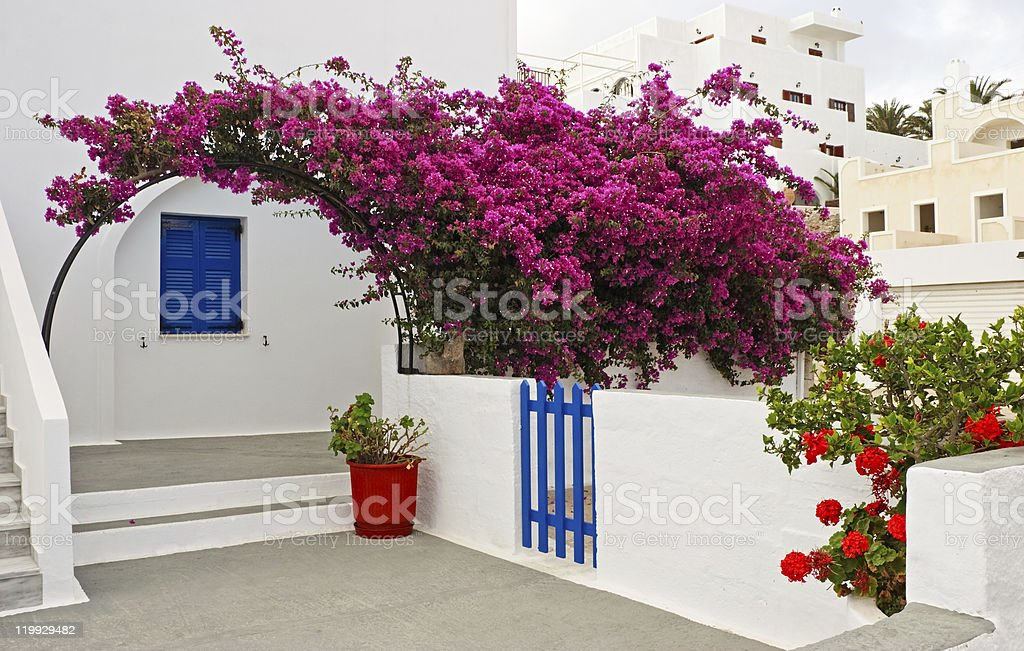 Features Santorini royalty-free stock photo